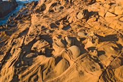 Praia de estado oca do feijão em Califórnia do norte Imagem de Stock