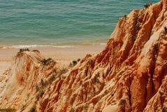 Praia de Falésia do Algarve Foto de Stock Royalty Free