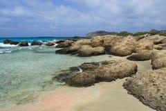 Praia de Falasarna, Creta Fotografia de Stock Royalty Free