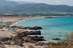 Praia de Falasarna, Creta, Grécia Imagens de Stock