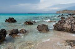 Praia de Falasarna, Creta, Grécia Foto de Stock