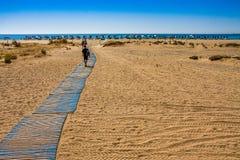 Praia de Falassrna na Creta, Grécia Imagens de Stock Royalty Free