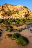 Praia de Falesia,阿尔加威,葡萄牙 库存图片