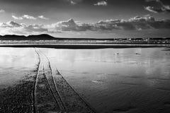 Praia de Famara em Lanzarote, Ilhas Canárias, Espanha Imagens de Stock