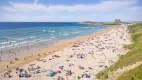 Praia de Fistral, Cornualha, Inglaterra Fotografia de Stock