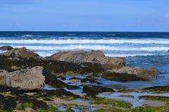 Praia de Fistral em Newquay Cornualha Inglaterra imagem de stock