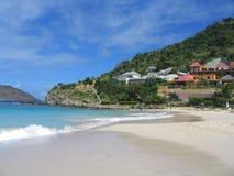Praia de Flamands, St Barts, Índias Ocidentais francesas imagem de stock