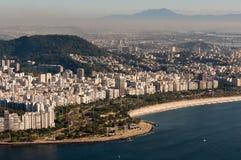Praia de Flamengo em Rio de janeiro, Brasil fotos de stock