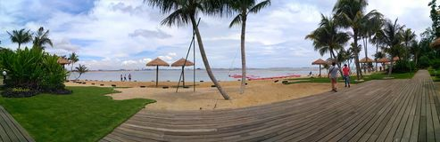 Praia de Forest City, Johor Bahru, Malásia Foto de Stock