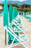 Praia de Forte dei Marmi, Toscânia, Itália Fotografia de Stock Royalty Free