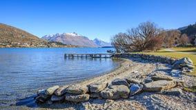 Praia de Frankton, queenstown Em algum lugar em Nova Zelândia Foto de Stock Royalty Free