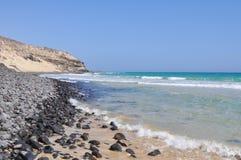 Praia 5 de Fuerteventura Esquinzo Fotografia de Stock