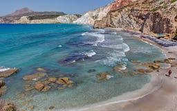 Praia de Fyriplaka, Milos Foto de Stock Royalty Free