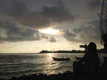 Praia de Galle Fotos de Stock Royalty Free