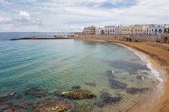Praia de Gallipoli em Salento, Puglia, Itália imagem de stock royalty free