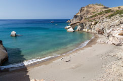 Praia de Gerontas, Milos ilha, Cyclades, Grécia Fotos de Stock