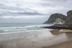 Praia de Getaria Fotografia de Stock
