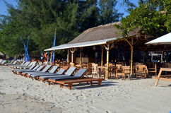 Praia de Gili Trawangan, Indonésia Imagem de Stock Royalty Free