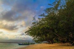 Praia de Gilitrawangan Fotos de Stock