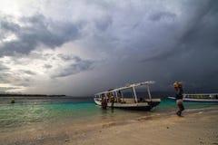 Praia de Gilitrawangan Imagens de Stock Royalty Free