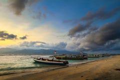 Praia de Gilitrawangan Fotografia de Stock Royalty Free