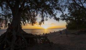 Praia de Gilles de Saint, La Reunion Island, france Imagem de Stock Royalty Free