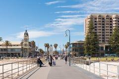 Praia de Glenelg, Adelaide, Sul da Austrália fotografia de stock