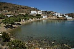 Praia de Glifo em Sifnos em Grécia Fotos de Stock Royalty Free