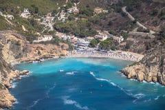 Praia de Granadella do La Javea, Alicante, Espanha Imagens de Stock Royalty Free
