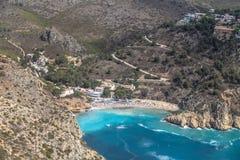 Praia de Granadella do La Javea, Alicante, Espanha Fotos de Stock Royalty Free