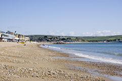 Praia de Greenhill, Weymouth Foto de Stock Royalty Free