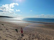 Praia de Gullane Imagem de Stock Royalty Free