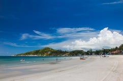 Praia de Haad-Rin, Koh Phangan, Tailândia imagem de stock royalty free