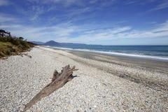 Praia de Haast, ilha sul de Nova Zelândia foto de stock