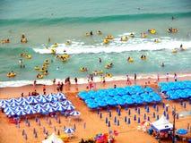 Praia de Haeundae, Busan, Coreia do Sul imagens de stock