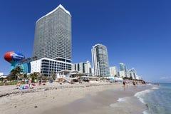 Praia de Hallandale, Florida Foto de Stock Royalty Free