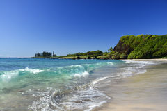 Praia de Hamoa, Hana, Maui, Havaí Fotos de Stock Royalty Free