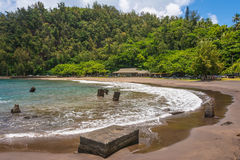 A praia de Hana, Maui Imagens de Stock