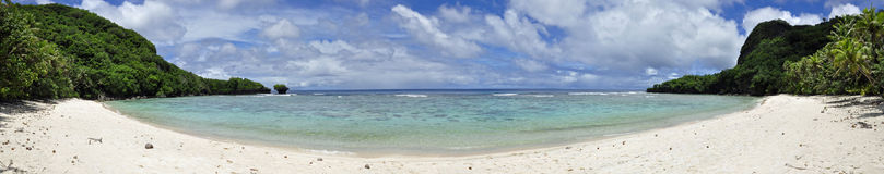 Praia de Haputo panorâmico Fotos de Stock