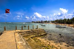 Praia de Hikkaduwa, Sri Lanka Imagem de Stock