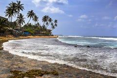 Praia de Hikkaduwa, Sri Lanka Imagens de Stock Royalty Free