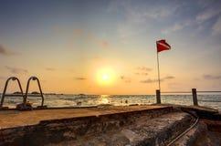 Praia de Hikkaduwa, Sri Lanka Imagens de Stock