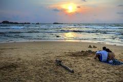 Praia de Hikkaduwa, Sri Lanka Imagem de Stock Royalty Free