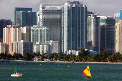 Praia de Hobie em Miami, Florida imagens de stock royalty free