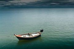 Praia de Hua- Hin. e barco, Imagens de Stock Royalty Free