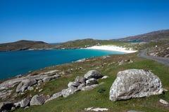 Praia de Hushinish, Harris, Hebrides exterior, Scotland Imagem de Stock