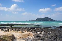 Praia de Hyeopjae Imagens de Stock