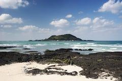 Praia de Hyeopjae Fotografia de Stock