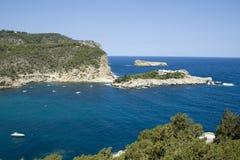 Praia de Ibiza foto de stock royalty free