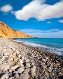 Praia de Ibiza Cala Jondal com os Rolling Stone em San Jose foto de stock royalty free